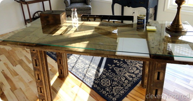 DIY barn door desk (via cleverlyinspired.com)