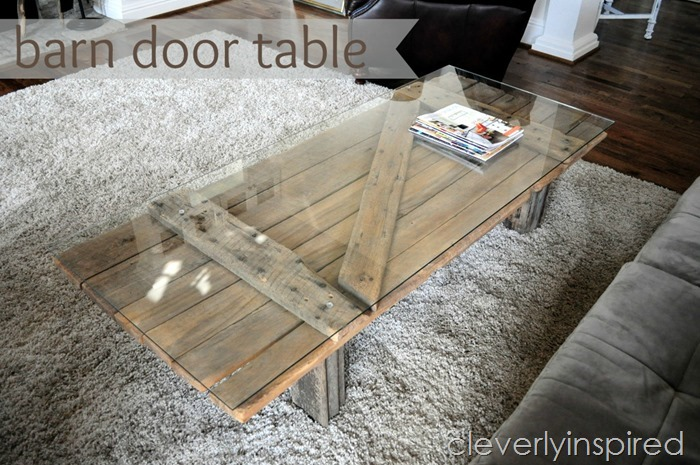 DIY barn door coffee table (via cleverlyinspired.com)