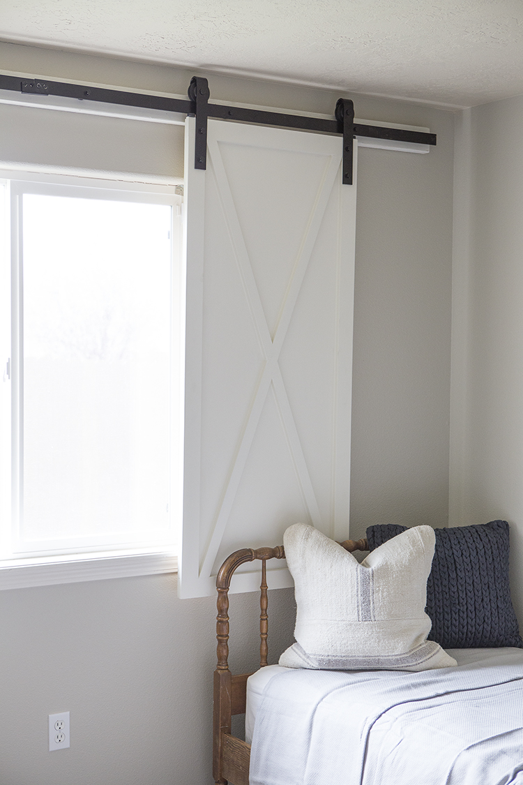 DIY barn door window treatment (via blog.homedepot.com)