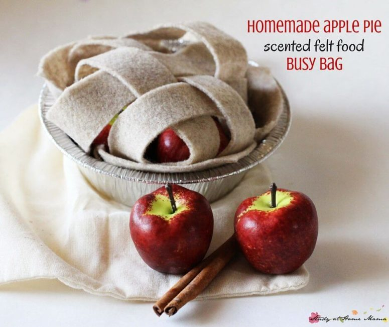 DIY play apple pie (via sugarspiceandglitter.com)