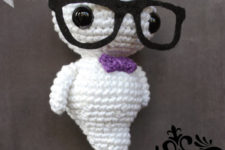 DIY crocheted glow in the dark ghost
