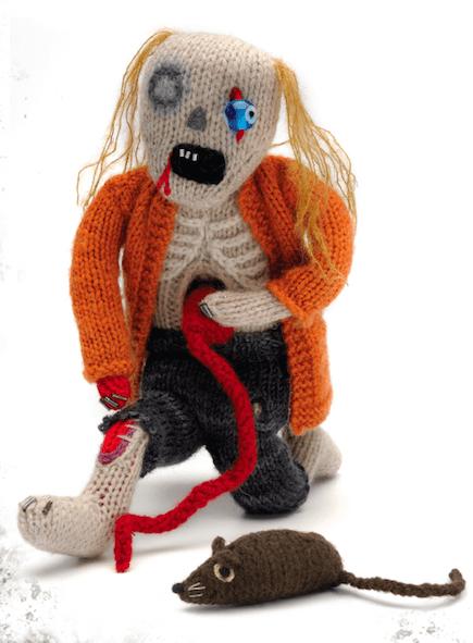 DIY knit Halloween zombie doll