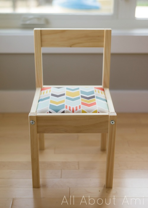 DIY IKEA Latt hack with colorful fabric and cushions (via www.allaboutami.com)