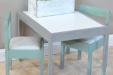 DIY IKEA Latt shabby chic makeover in pastel shades