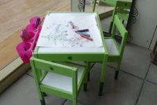 DIY artist table from IKEA Latt