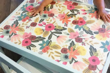 DIY Latt set hack with floral fabric