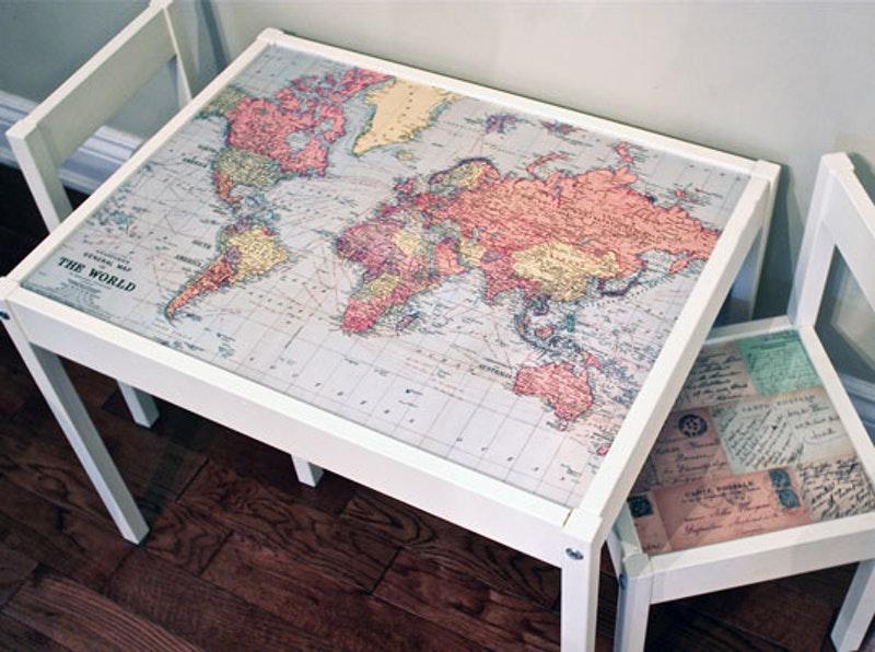 DIY map hack for IKEA Latt