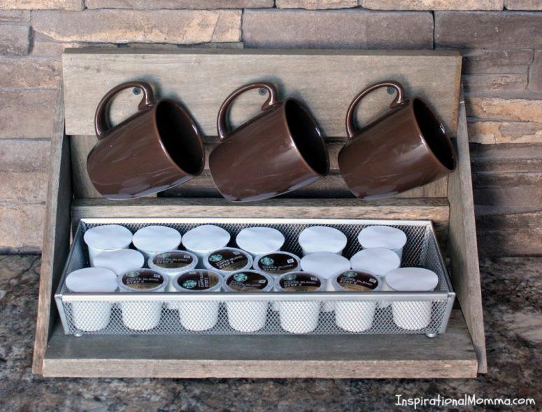 DIY mug rack storage (via www.inspirationalmomma.com)