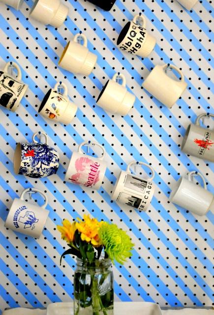 DIY pegboard mug storage (via www.thecleverbunny.com)