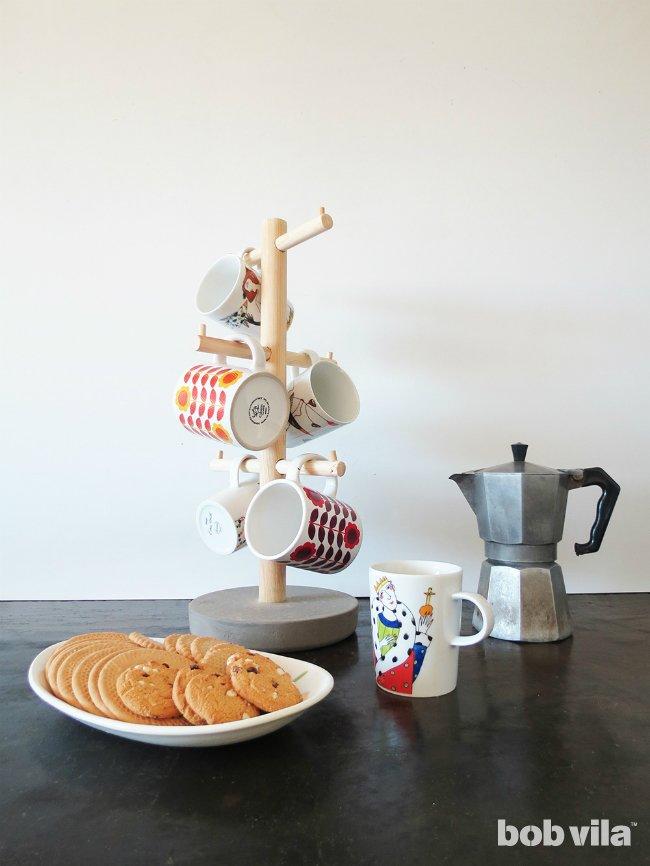DIY coffee mug tree (via www.bobvila.com)