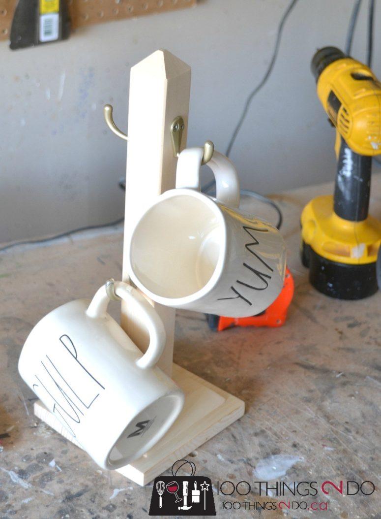 DIY mug stand (via 100things2do.ca)