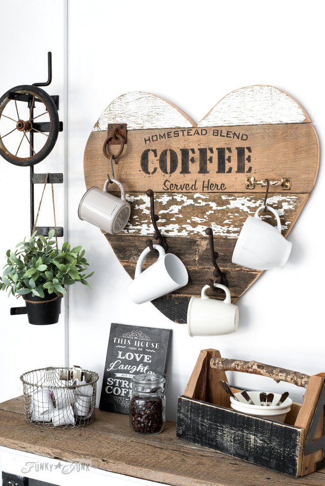 DIY reclaimed wood mug holder