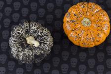 DIY nail polish pumpkins