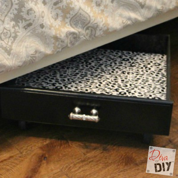 DIY underbed drawers from old drawers (via divaofdiy.com)