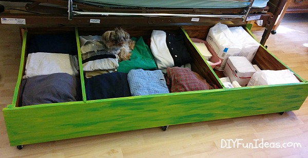 DIY large under the bed storage unit