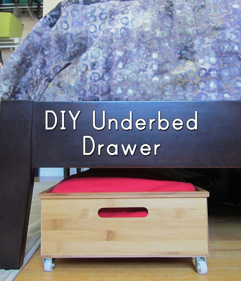 DIY rolling underbed drawers