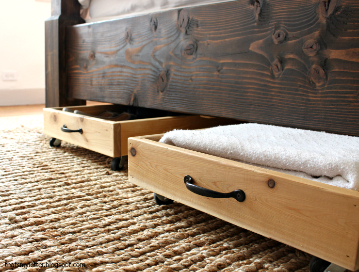 Diy Cedar Underbed Storage Drawers Via Www Prettyhandy