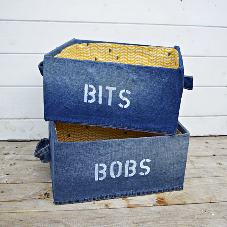 DIY denim storage boxes (via www.pillarboxblue.com)