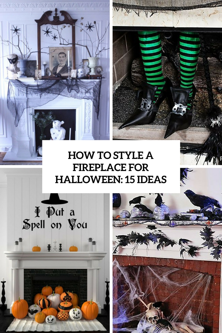 how to style a fireplace for halloween 15 ideas cover