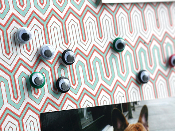 DIY googly eyes push pins