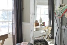 02 a large mirror in a shabby chic frame will be a fit for a vintage or rustic space