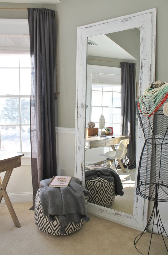 15 Chic Ways To Rock A Floor Mirror In Your Home - Shelterness
