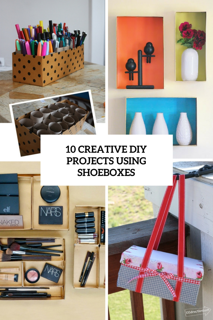 10 Creative DIY Projects Using Shoeboxes