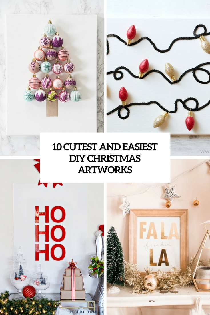 cutest and easiest diy christmas artworks cover