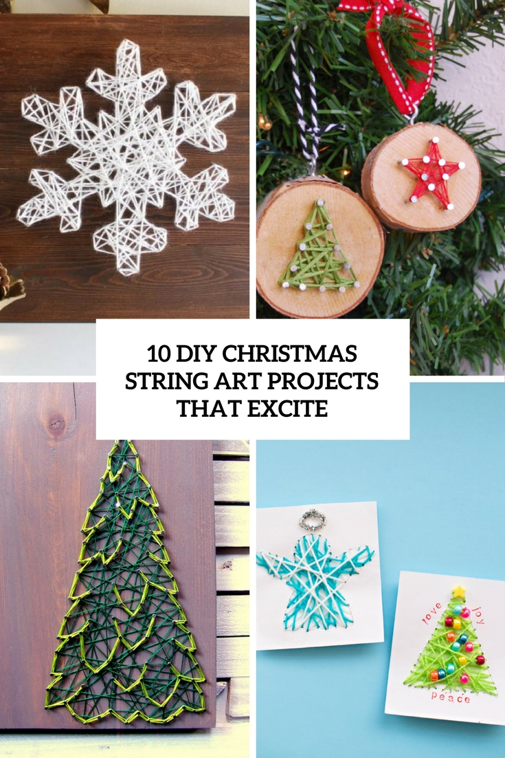 diy christmas string art projects that excite cover