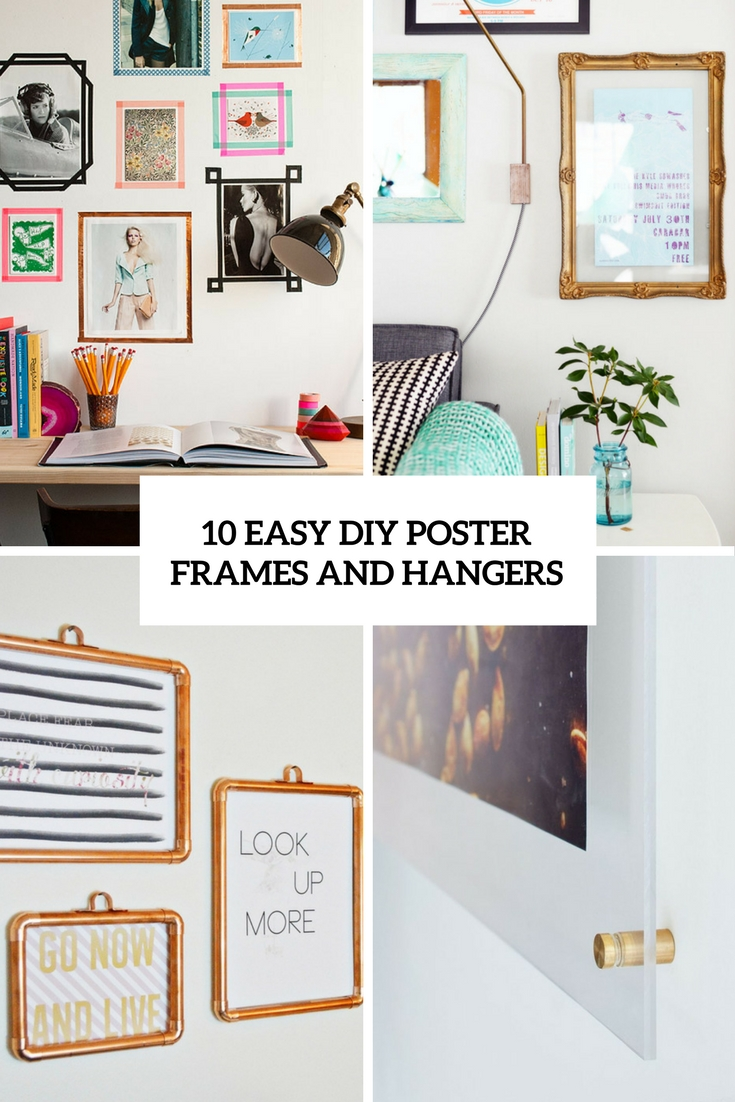 easy diy poster frames and hangers cover