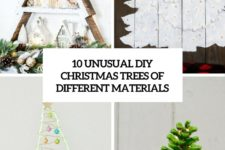 10 unusual diy christmas trees of different materials cover