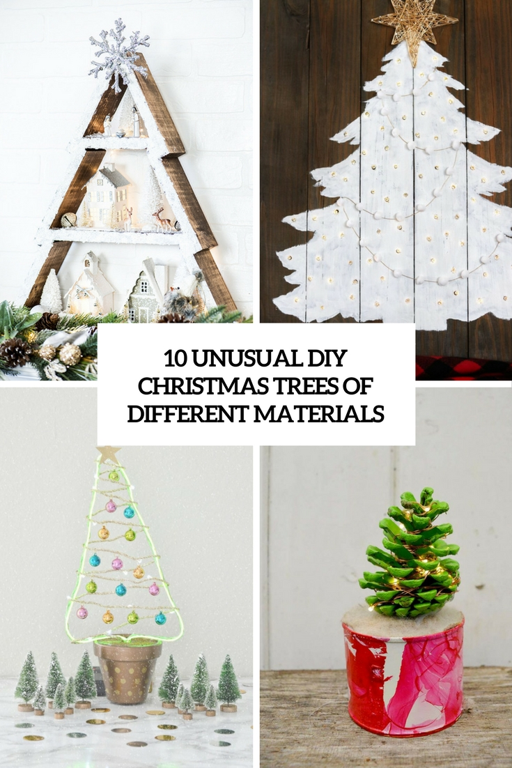 unusual diy christmas trees of different materials cover