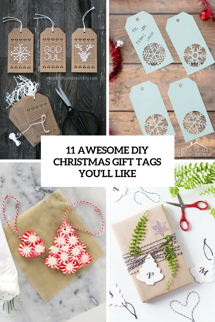 awesome diy christmas gift tags you'll like cover