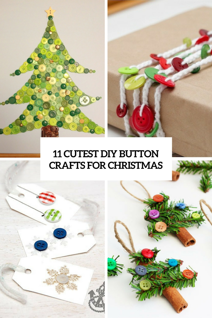 cutest diy button crafts for christmas cover