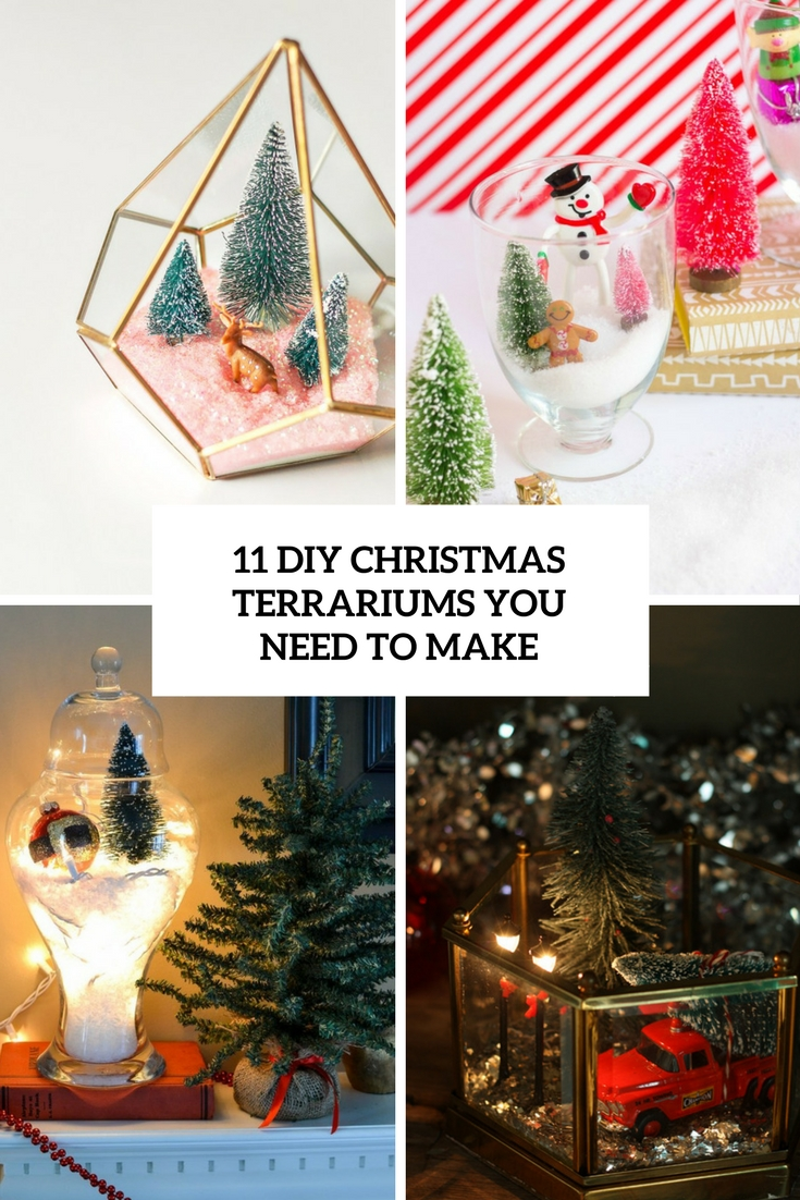 11 DIY Christmas Terrariums You Need To Make