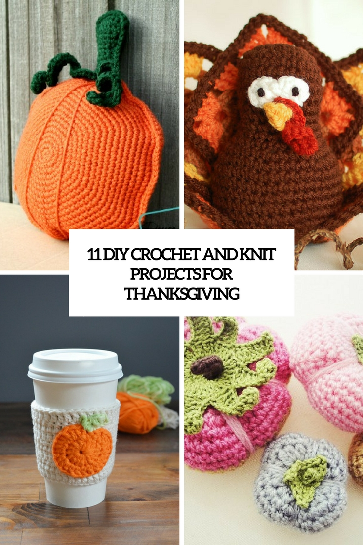 diy crochet and knit projects for thanksgiving cover