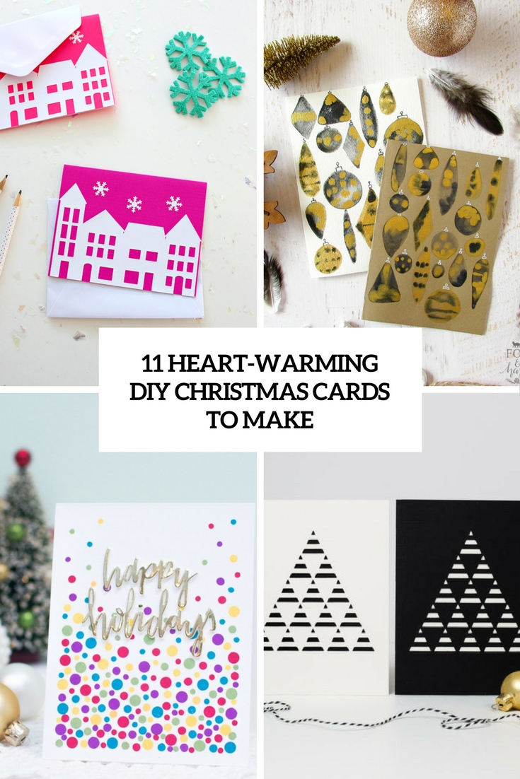 heart warming diy christmas cards to make cover
