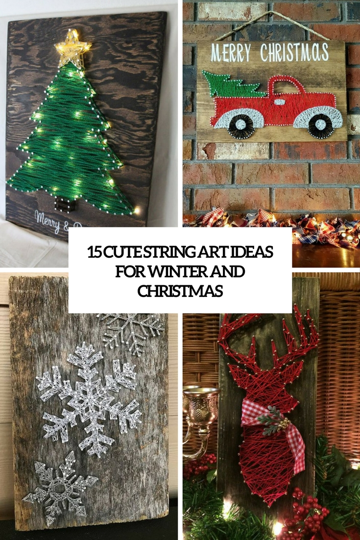 cute string art ideas for winter and christmas cover