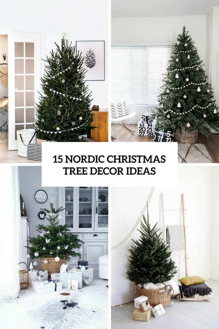 nordic christmas tree decor ideas cover - Nordic Christmas Tree Decorations