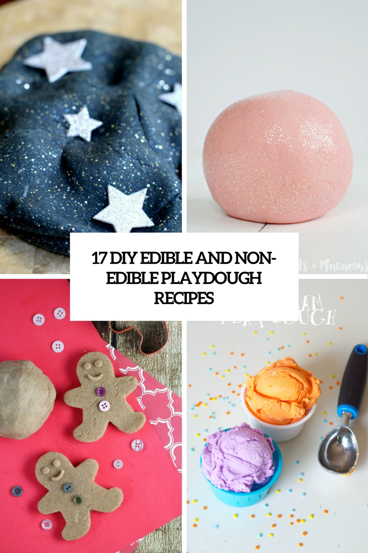 17 DIY Edible And Non-Edible Playdough Recipes