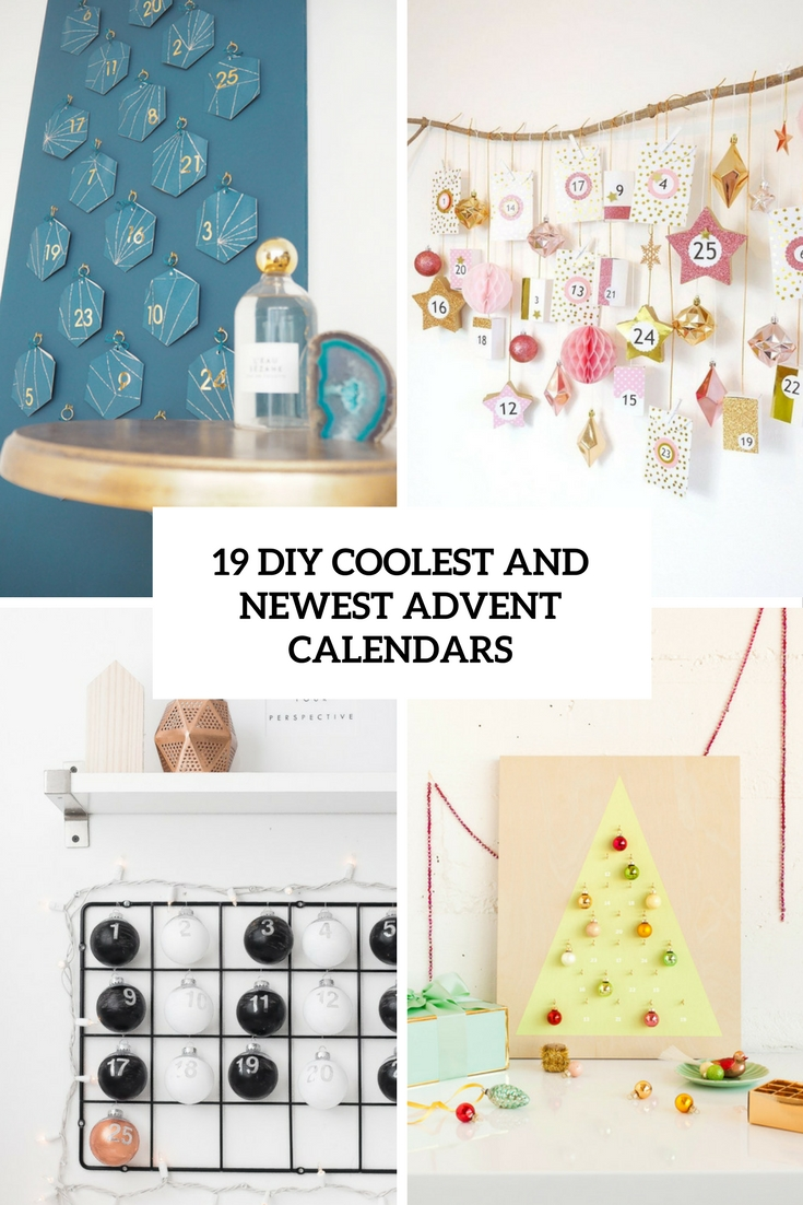 diy coolest and newest advent calendars cover