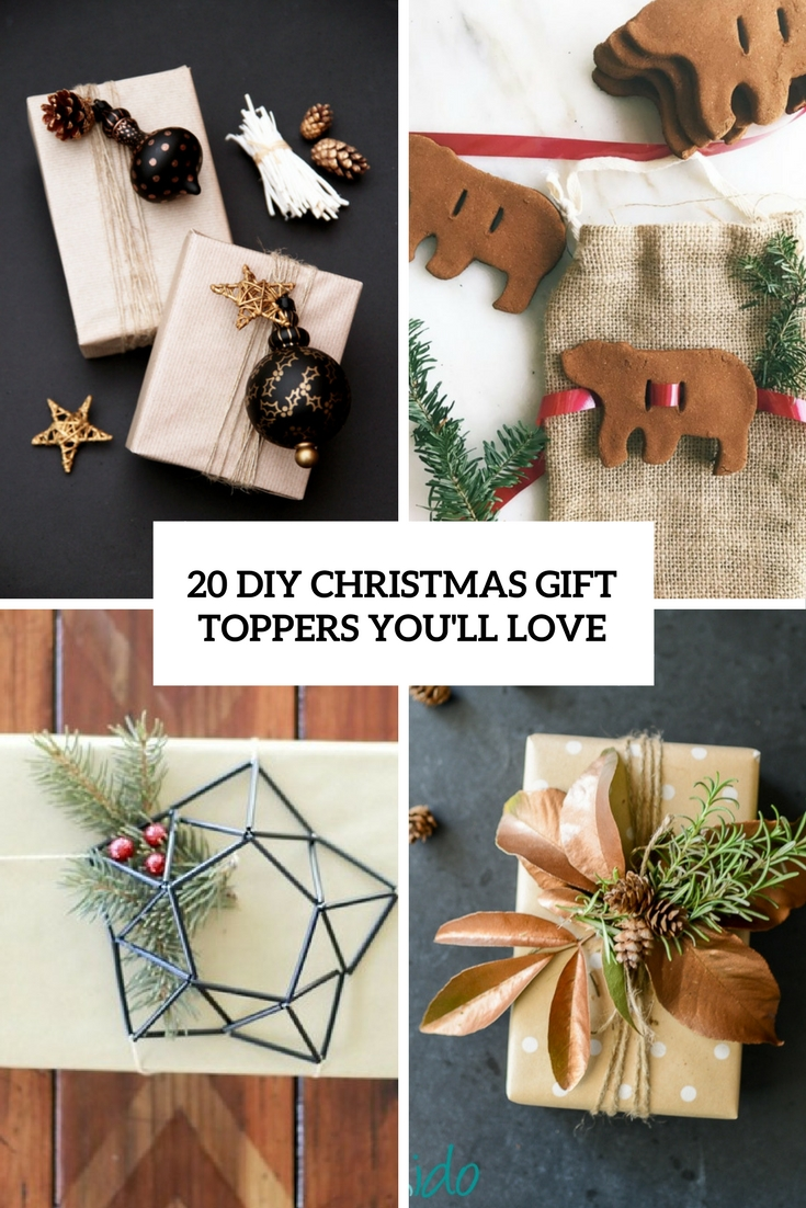 20 DIY Christmas Gift Toppers You'll Love