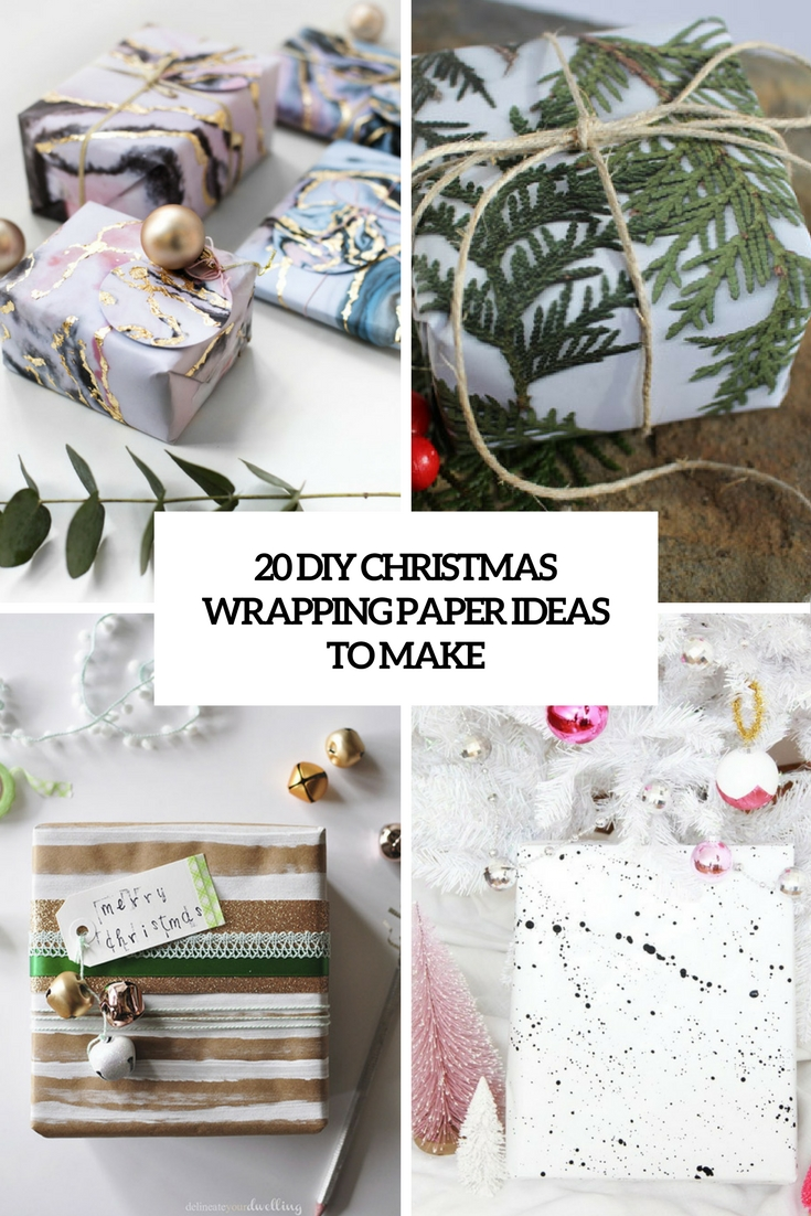 20 DIY Christmas Wrapping Paper Ideas To Make - Shelterness