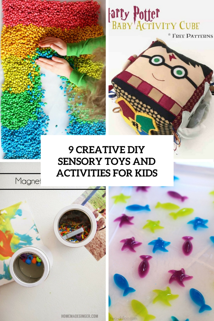 9 creative diy sensory toys and activities for kids cover