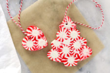 DIY peppermint ornaments or gift tags
