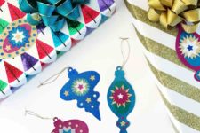 DIY paper ornament Christmas gift tags