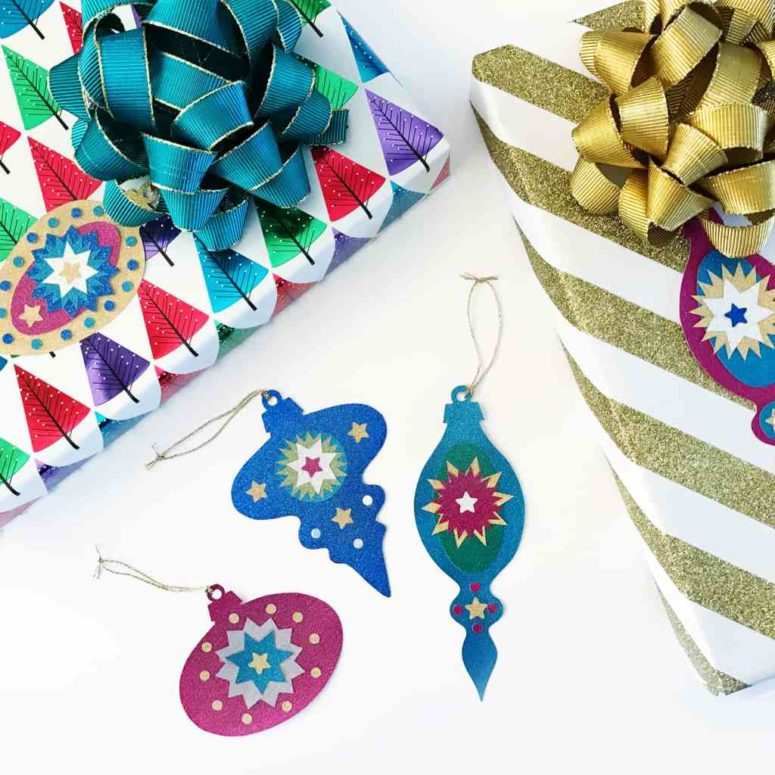 DIY paper ornament Christmas gift tags (via www.bugaboocity.com)