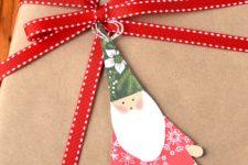 DIY Christmas gnome gift tag