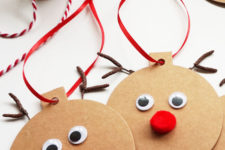 DIY Rudolph gift tags for Christmas