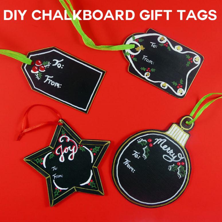 DIY chalkboard gift tags (via jennifermaker.com)